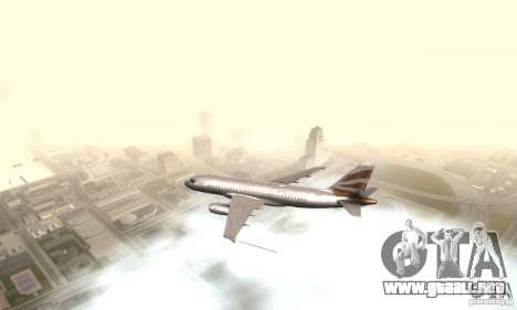 Airbus A319 British Airways Olympic Dove para GTA San Andreas left