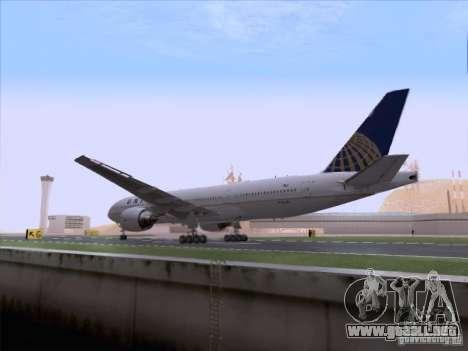 Boeing 777-200 United Airlines para visión interna GTA San Andreas
