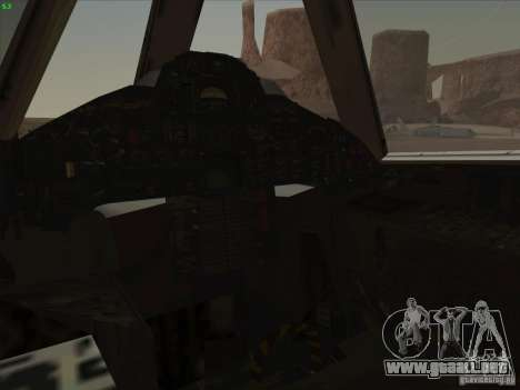 YF-12A para vista inferior GTA San Andreas