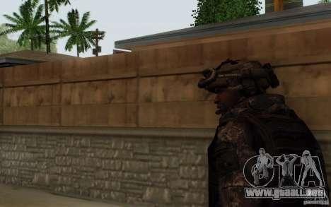 Sargento Foley de CoD: MW2 para GTA San Andreas tercera pantalla