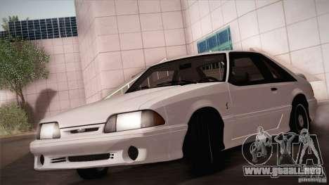 Ford Mustang SVT Cobra 1993 para la vista superior GTA San Andreas