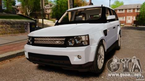 Land Rover Range Rover Sport Supercharged 2010 para GTA 4