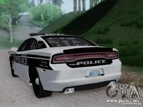 Dodge Charger 2012 Police para la visión correcta GTA San Andreas