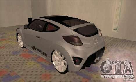 Hyundai Veloster Castor para la visión correcta GTA San Andreas