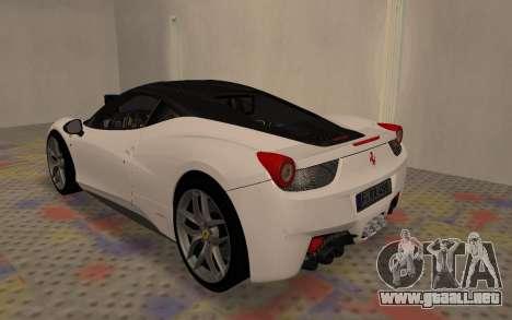 Ferrari 458 Italia para la visión correcta GTA San Andreas