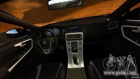 Volvo S60 Sheriff para GTA 4 vista hacia atrás