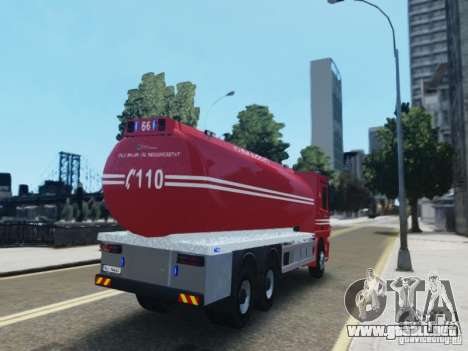 Mercedes-Benz Vanntankbil / Water Tanker para GTA 4 Vista posterior izquierda