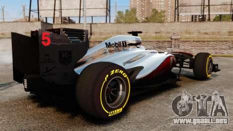 McLaren MP4-28 para GTA 4 visión correcta