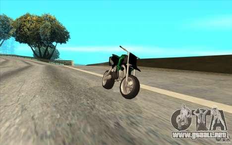 Black Rockstar Moto Cross para GTA San Andreas