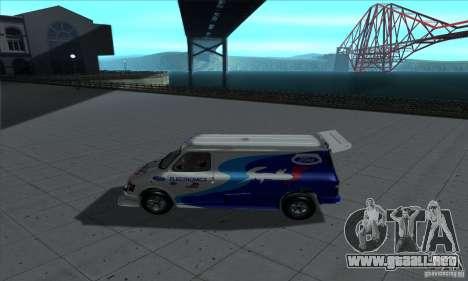 Ford Transit Supervan 3 2004 para GTA San Andreas vista posterior izquierda
