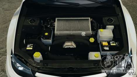 Subaru Impreza WRX STi 2011 G4S Estonia para GTA 4 interior