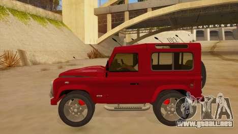 Land Rover Defender para GTA San Andreas left
