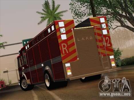 Pierce Contender LAFD Rescue 42 para visión interna GTA San Andreas