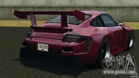 Porsche 997 GT2 Body Kit 2 para GTA 4 Vista posterior izquierda