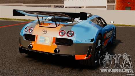 Bugatti Veyron 16.4 Body Kit Final para GTA 4 Vista posterior izquierda
