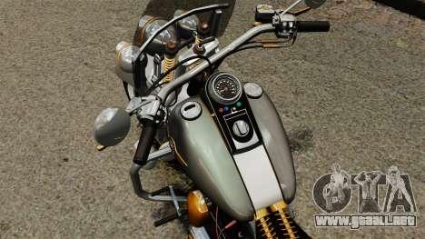 Harley-Davidson Trike para GTA 4 vista hacia atrás