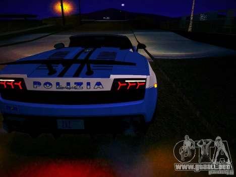 Lamborghini Gallardo LP570-4 Spyder Performante para la visión correcta GTA San Andreas