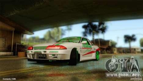 Nissan Skyline GT-R32 BadAss para la visión correcta GTA San Andreas