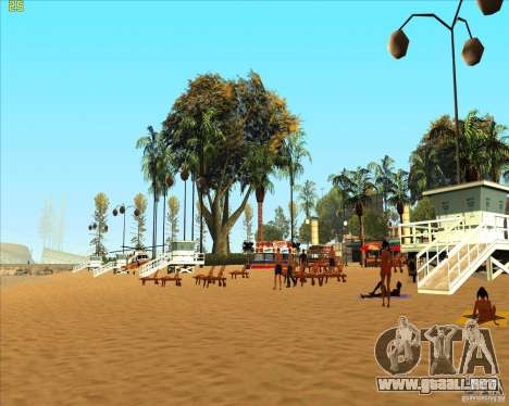 Modern beach in Los-Santos para GTA San Andreas segunda pantalla