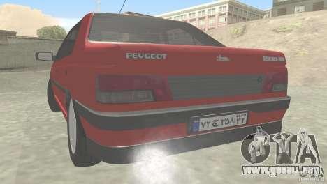 Peugeot RD 1600i para GTA San Andreas vista posterior izquierda