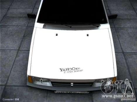 VAZ 2109 Rostov para visión interna GTA San Andreas