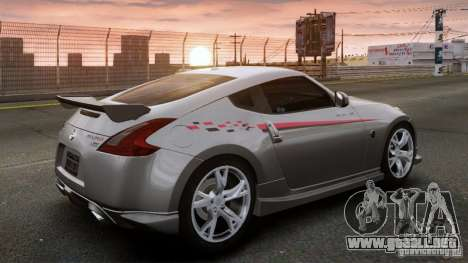Nissan 370Z NISMO S-Tune para GTA 4 left