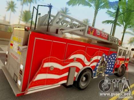 Seagrave FDNY Ladder 10 para la visión correcta GTA San Andreas