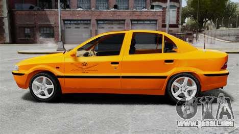 Iran Khodro Samand LX Taxi para GTA 4 left