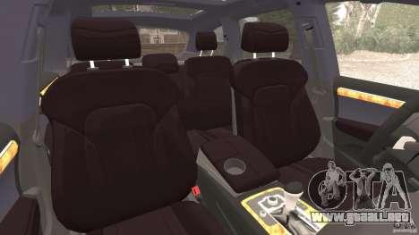 Audi Q7 V12 TDI v1.1 para GTA 4 vista interior