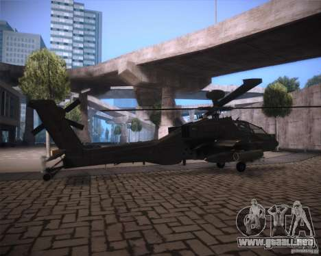 AH-64D Longbow Apache para GTA San Andreas vista hacia atrás