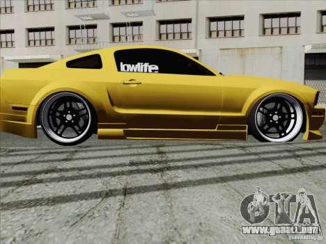 Ford Mustang GT Lowlife para la visión correcta GTA San Andreas