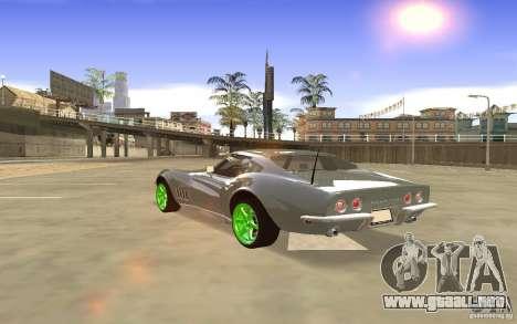 Chevrolet Corvette Stingray Monster Energy para visión interna GTA San Andreas