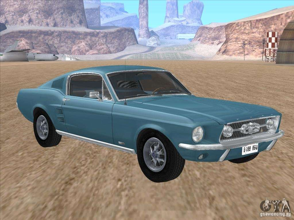 ford mustang fastback 1967 para gta san andreas. Black Bedroom Furniture Sets. Home Design Ideas