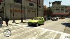 Fiat Palio de plata para GTA 4