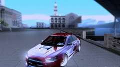 Mitsubishi Lancer Evolution X v2 Make Stance para GTA San Andreas