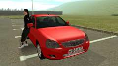 VAZ 2170 rojo para GTA San Andreas