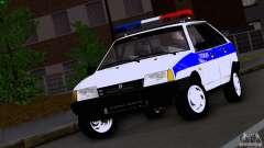 Policía Vaz 2109 para GTA San Andreas