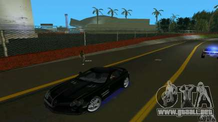 Mercedes-Benz SLR McLaren 722 Black Revel para GTA Vice City