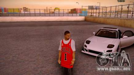 Piel Chicago Bulls para GTA San Andreas