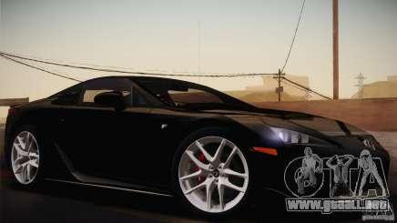 Lexus LFA (US-Spec) 2011 para GTA San Andreas
