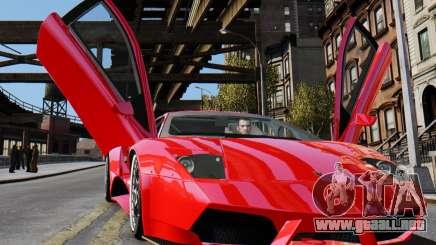 Lamborghini Murcielago RSV FIA GT1 para GTA 4