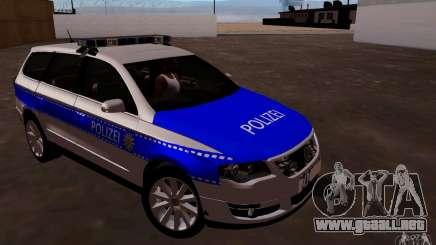 Volkswagen Passat B6 Variant Polizei para GTA San Andreas
