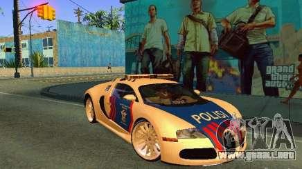 Bugatti Veyron Indonesian Police para GTA San Andreas