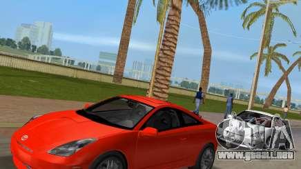 Toyota Celica 2JZ-GTE negro Revel para GTA Vice City