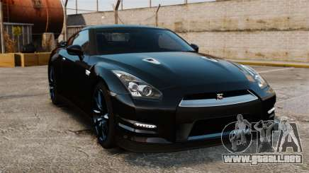 Nissan GT-R Black Edition (R35) 2012 para GTA 4