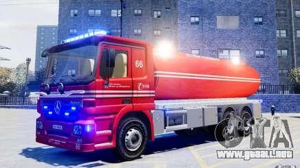 Mercedes-Benz Vanntankbil / Water Tanker para GTA 4