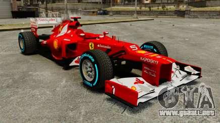 Ferrari F2012 para GTA 4