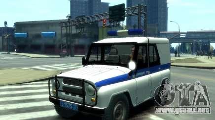 UAZ 31512 policía para GTA 4