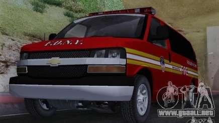 Chevrolet Express Special Operations Command para GTA San Andreas