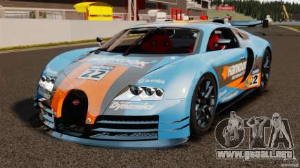 Bugatti Veyron 16.4 Body Kit Final para GTA 4